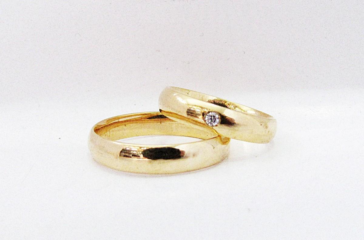 Foto 1 - Aliança de Casamento em Ouro 18K (8g 4,1mm)