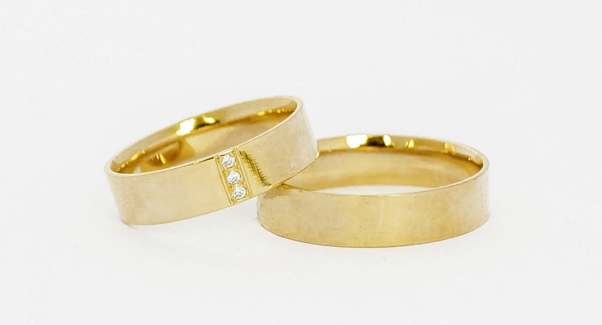 Foto 1 - Aliança de Casamento em Ouro 18K (8g 4,9mm)