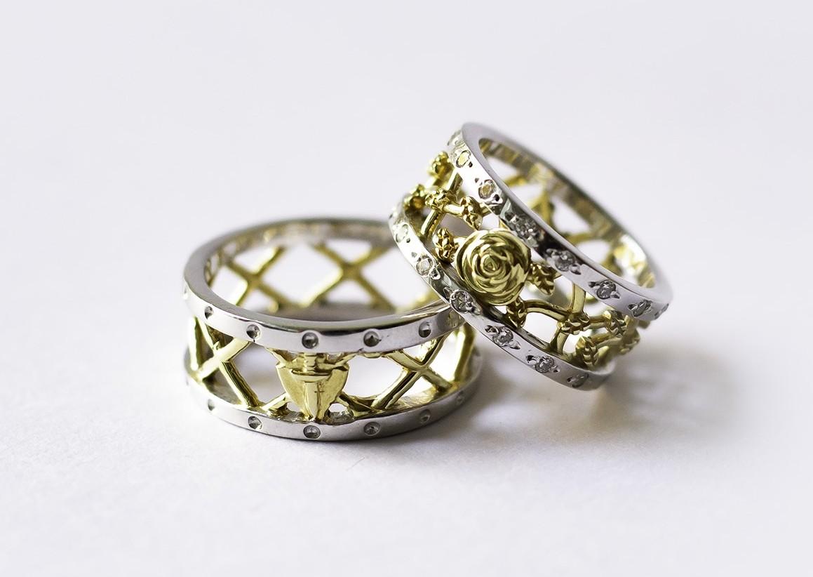 Foto 1 - Aliança de Casamento em Ouro 18K linha Only Love com diamantes