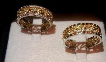 Foto4 - Aliança de Casamento linha Only Love em Ouro 18K Com Brilhantes