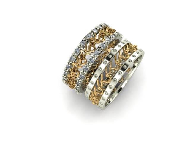 Foto3 - Aliança de Casamento linha Only Love em Ouro 18K Com Brilhantes