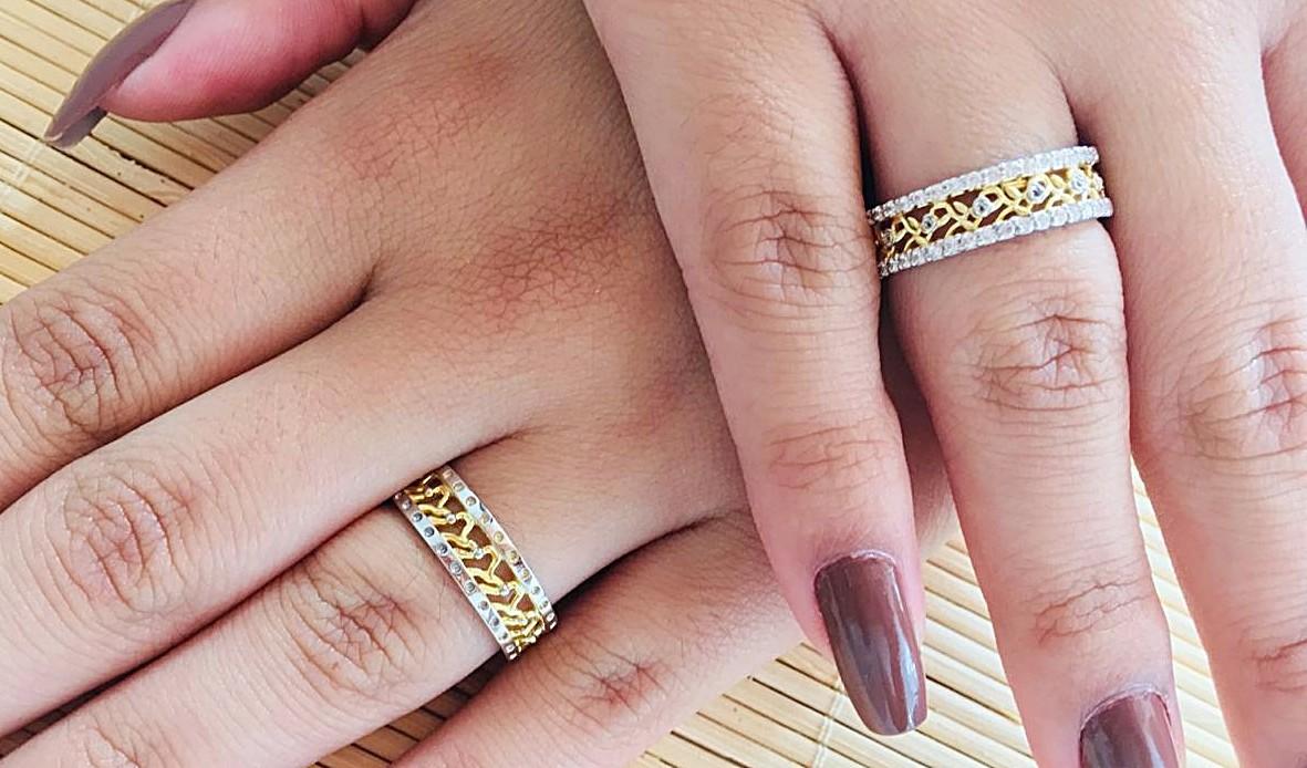 Foto2 - Aliança de Casamento linha Only Love em Ouro 18K Com Brilhantes