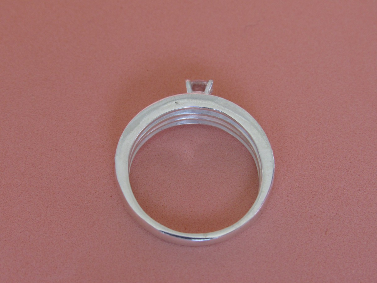 Foto3 - Anel em prata 950 com dois aros