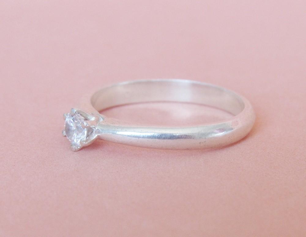 Foto 1 - Anel em prata 950 com pedra de 3,5mm