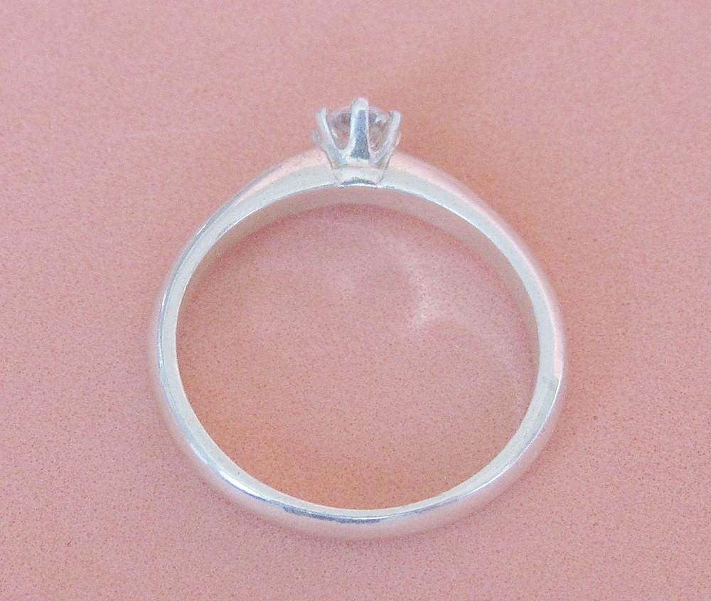 Foto3 - Anel em prata 950 com pedra de 3,5mm