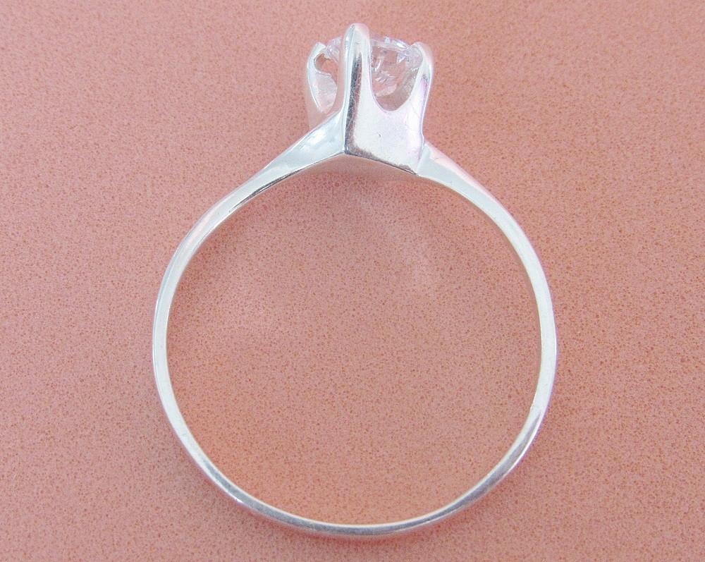Foto2 - Anel em prata 950 com zircônia