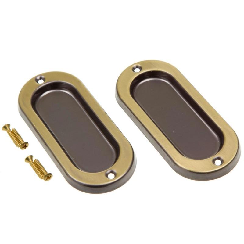 Foto 1 - Concha para Janelas Latão Oxidado Dourado 100x40mm União Mundial