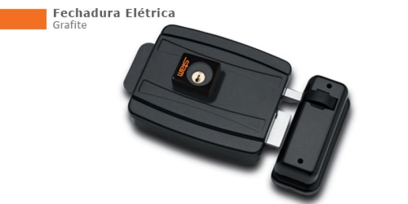 Foto 1 - Fechadura Elétrica Stam CIl. 40mm Abre para Fora - Grafite