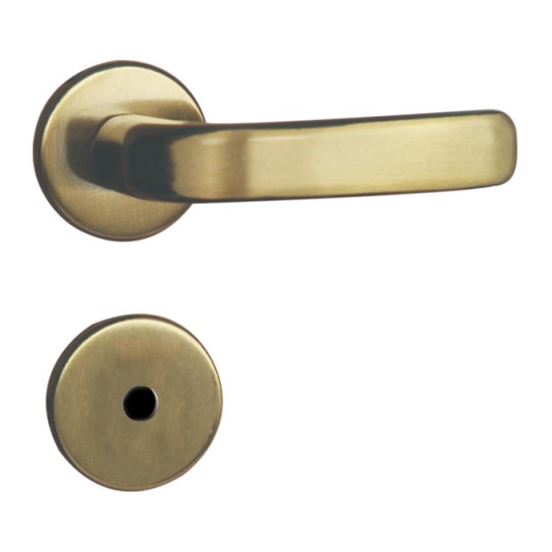 Foto 1 - Fechadura MGM Stilo WC/Banheiro Bronze Latonado Roseta - 122213