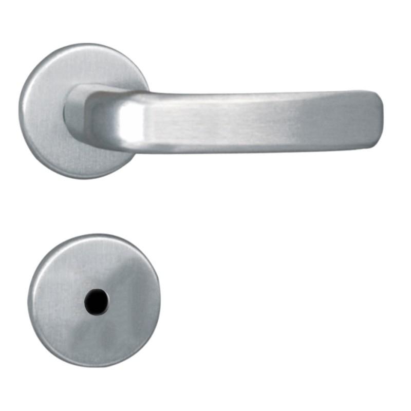 Foto 1 - Fechadura MGM Stilo WC/Banheiro Alumínio Roseta - 122113