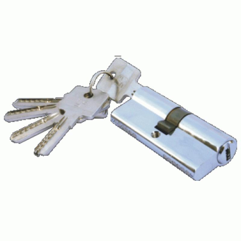 Foto2 - Fechadura Tipo Trinco Rolete com 3 pinos Quadrados de Travamento Acabamento Roseta Quadrada