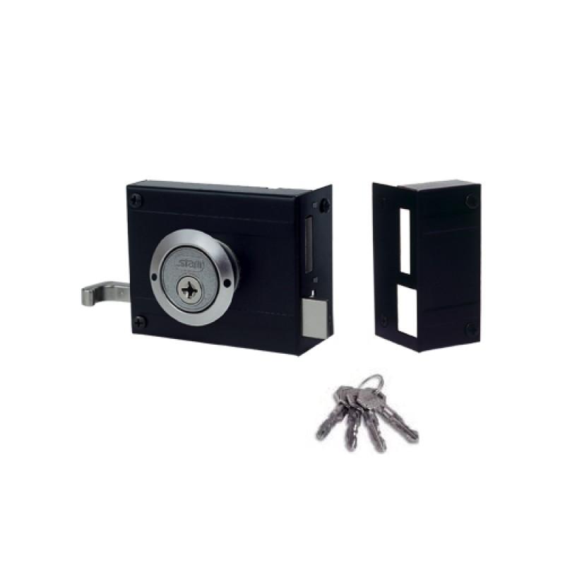 Foto 1 - Fechadura para Portão Sobrepor Stam 1701/100 Chave Tetra
