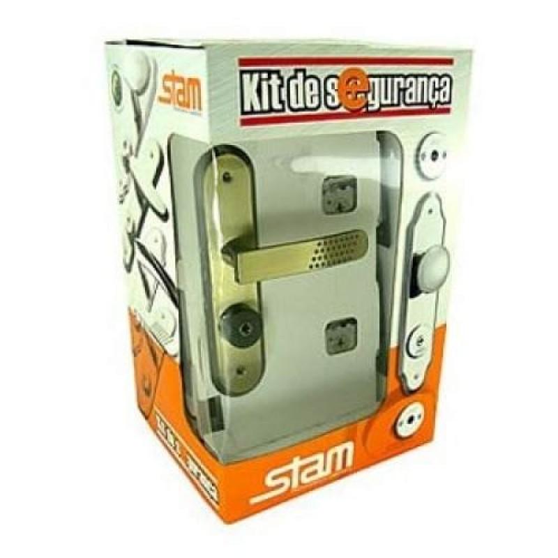 Foto3 - Kit Segurança Tetra Chave Stam Oxidado Maçaneta