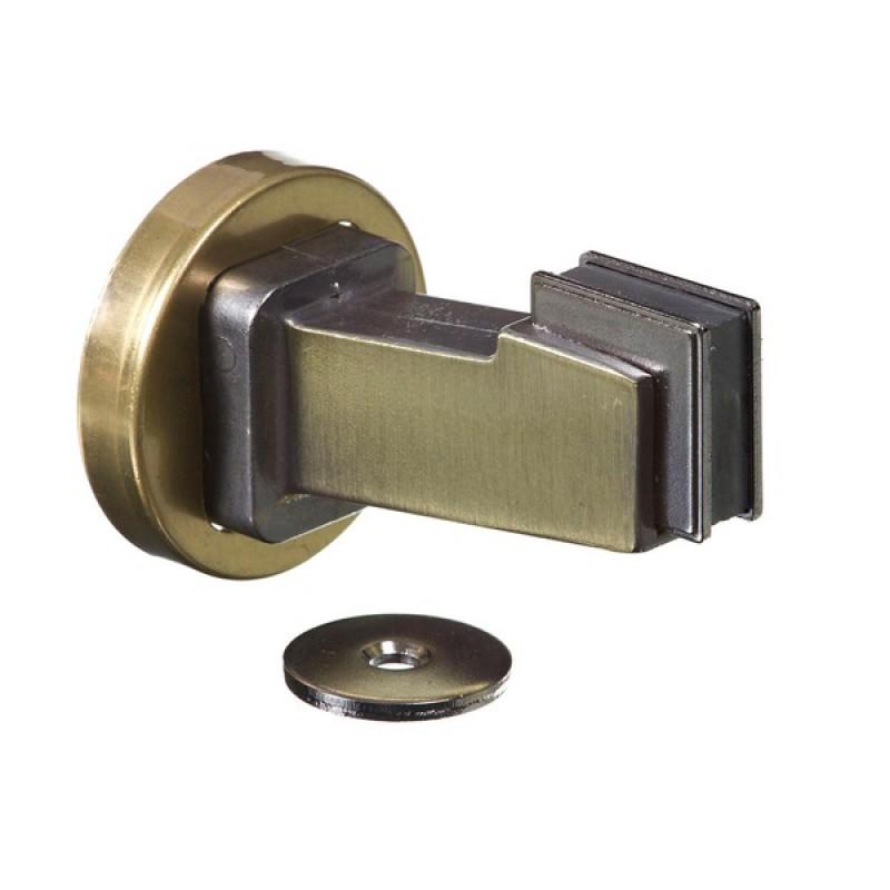 Foto 1 - Prendedor para Portas Magnético Zamac Oxidado União Mundial