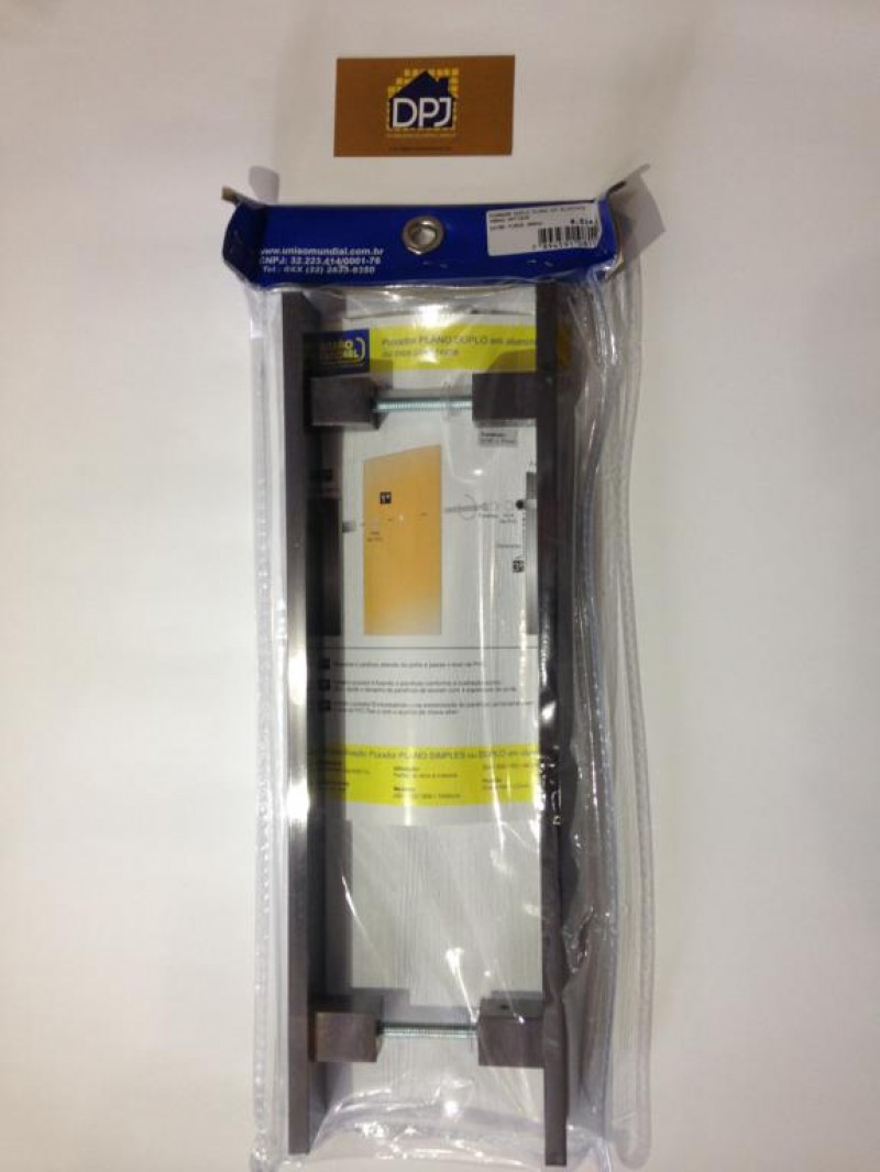 Foto4 - Puxador Para Porta Duplo Plano em Aluminio Antique