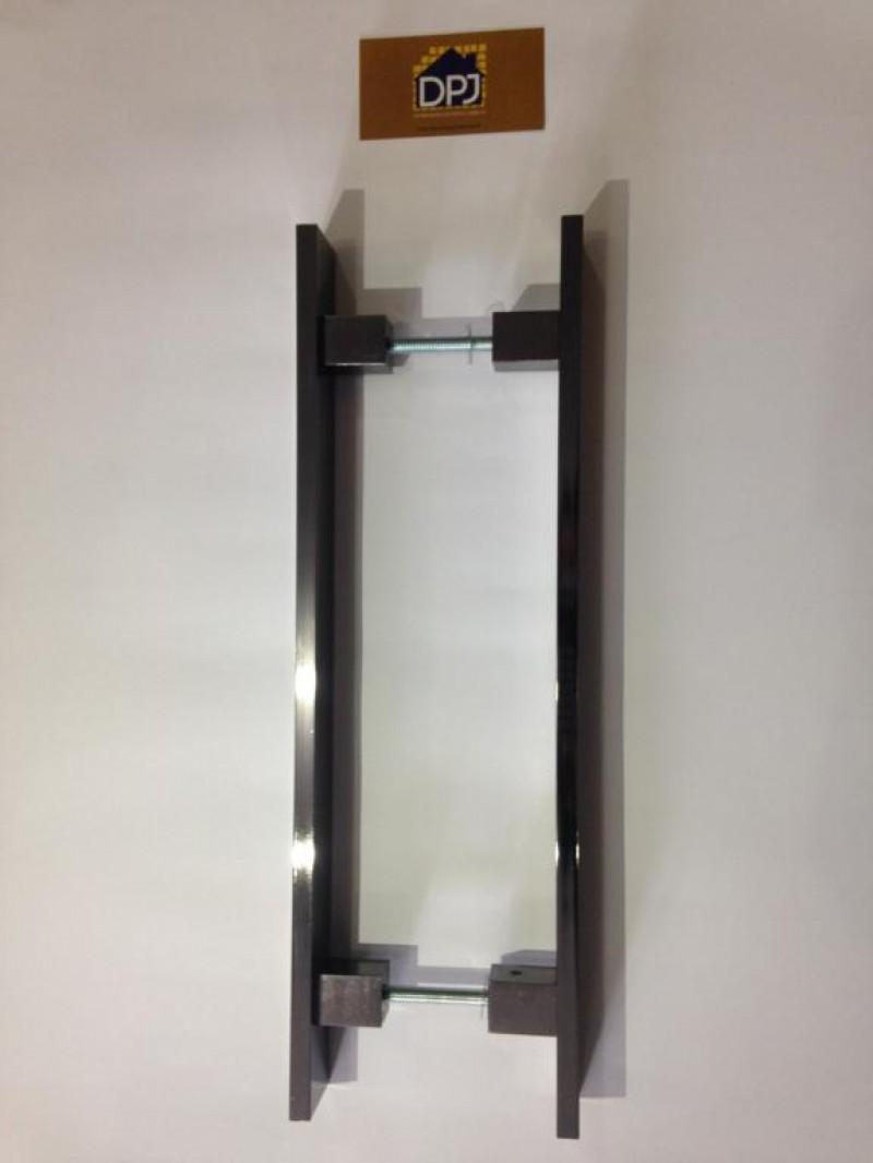 Foto5 - Puxador Para Porta Duplo Plano em Aluminio Antique