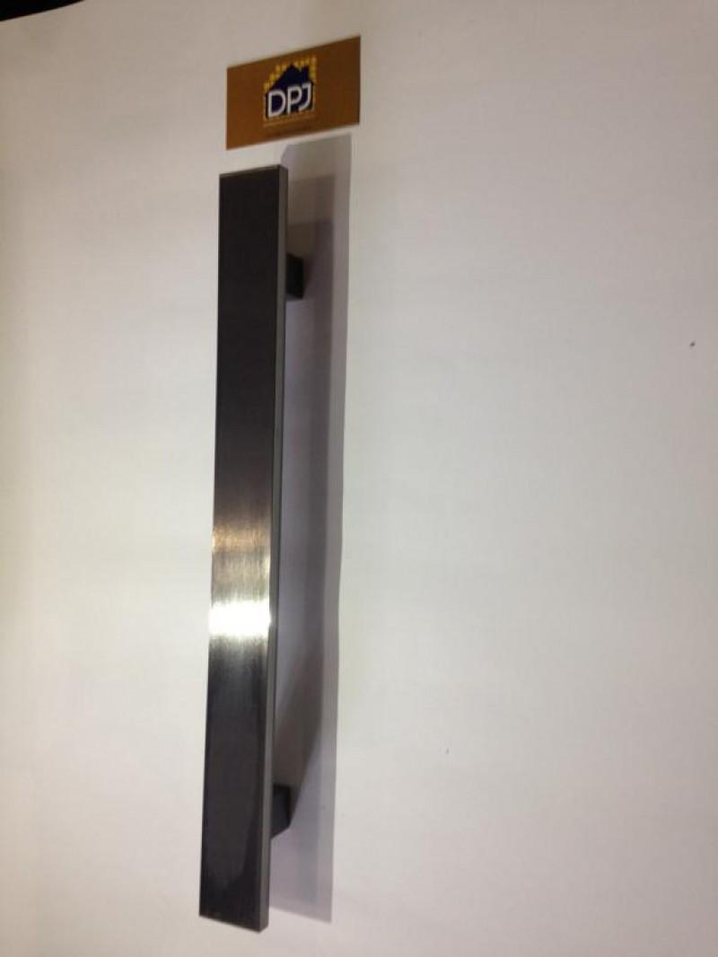 Foto8 - Puxador Para Porta Duplo Plano em Aluminio Antique