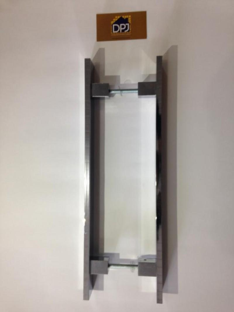 Foto6 - Puxador Para Porta Duplo Plano em Aluminio Cromado