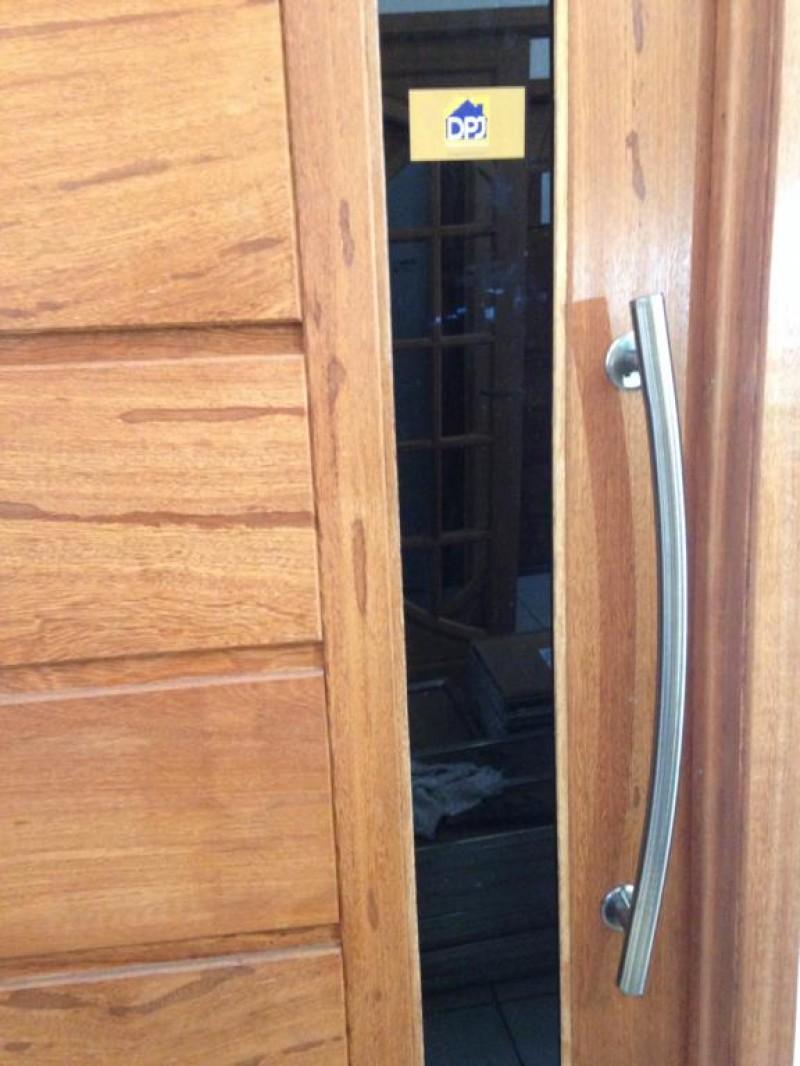 Foto4 - Puxador Para Porta Duplo Tubular Lateral Curvo em Aluminio Antique