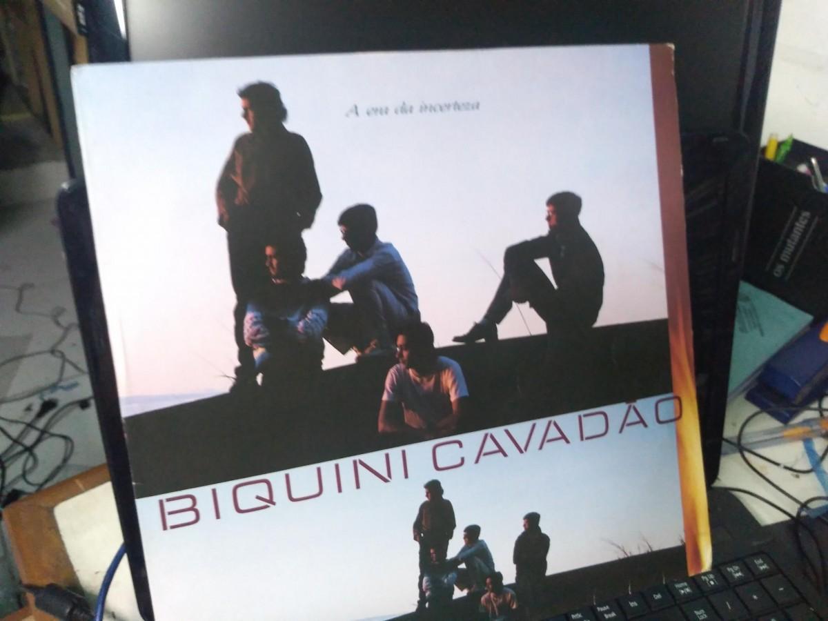 Foto2 - BIQUINI CAVADÃO, LP A Era da Incerteza, Polydor-1987 novinho com encarte