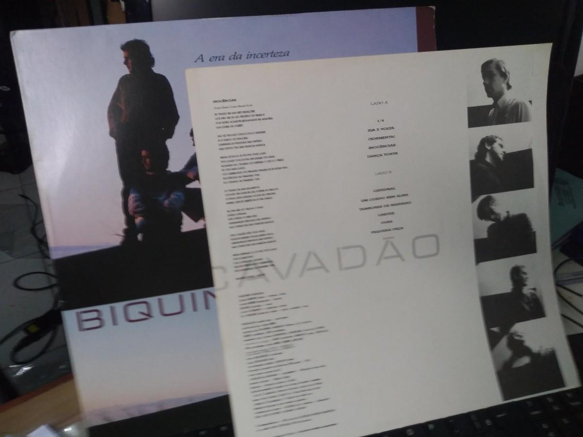 Foto4 - BIQUINI CAVADÃO, LP A Era da Incerteza, Polydor-1987 novinho com encarte