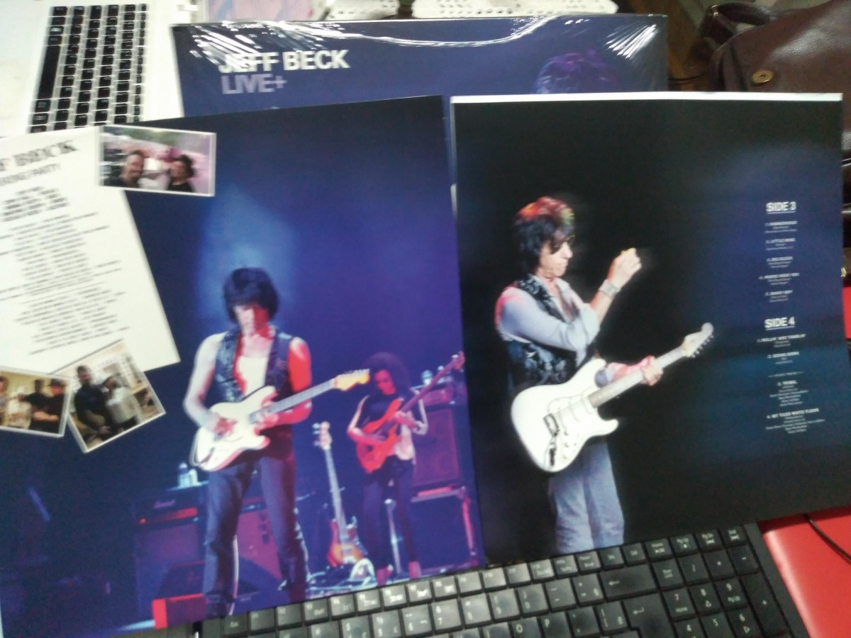 Foto3 - JEFF BECK, Lp duplo 180gr. Jeff Beck Live +, 2015 importado dos Estados Unidos.