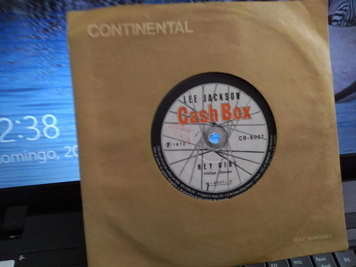 "Foto 1 - LEE JACKSON, Single 7"" Hey Girl + Something In The Way She Move, Cashbox-1972"