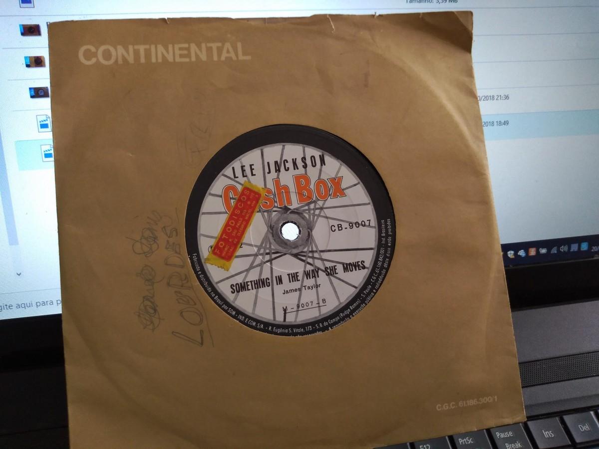 "Foto2 - LEE JACKSON, Single 7"" Hey Girl + Something In The Way She Move, Cashbox-1972"