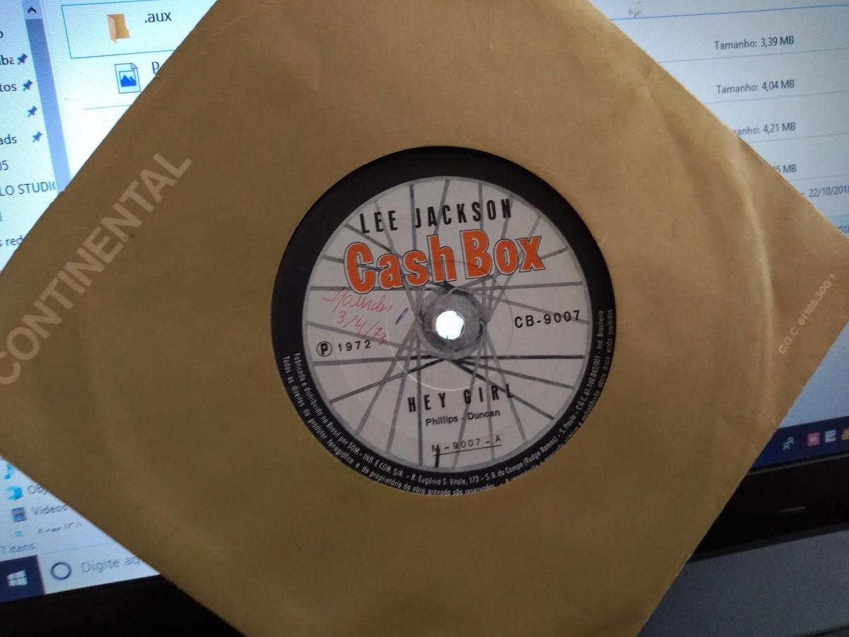 "Foto3 - LEE JACKSON, Single 7"" Hey Girl + Something In The Way She Move, Cashbox-1972"
