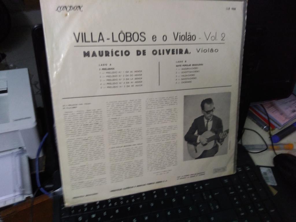 Foto3 - MAURÍCIO DE OLIVEIRA, Lp Villa-Lobos e O Violão Vol.2, 1972