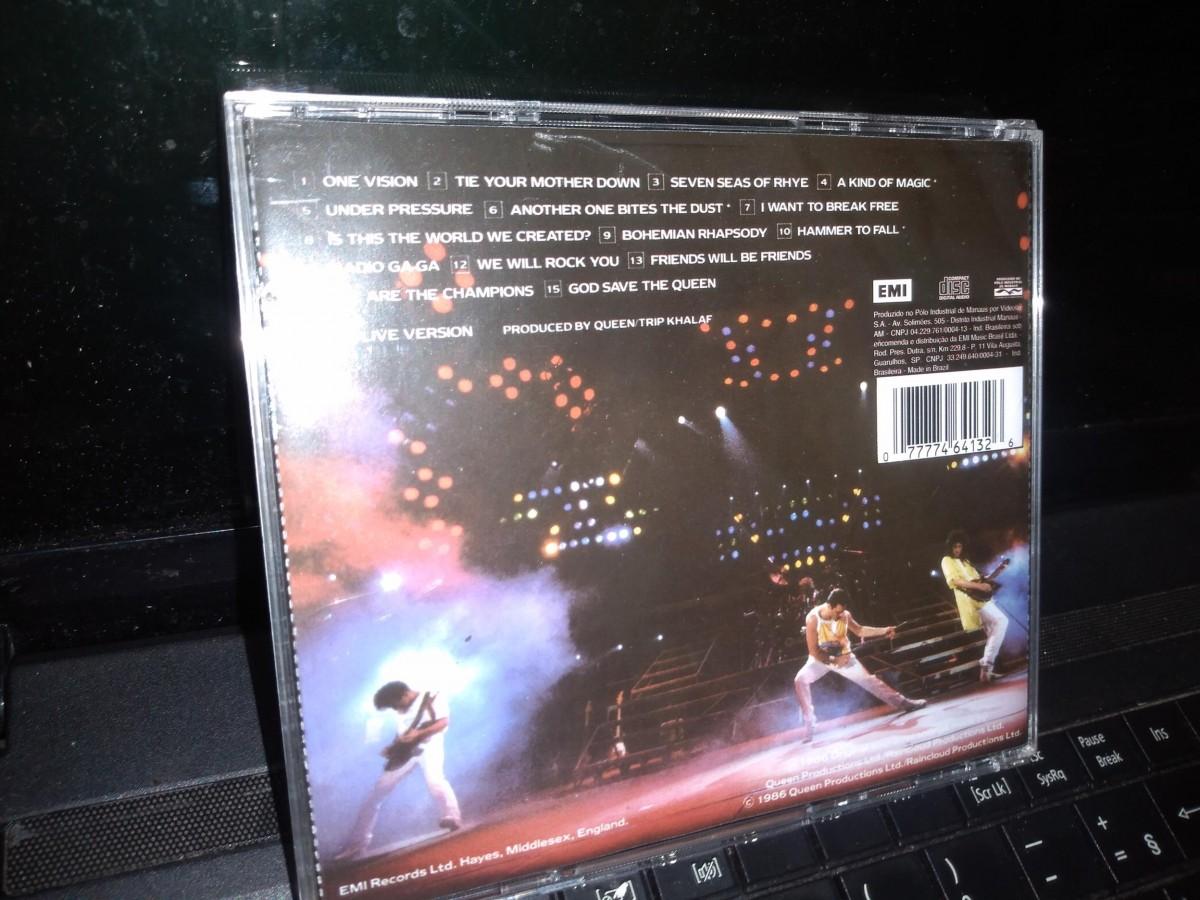 Foto3 - QUEEN, Cd Live Magic, Emi-1986 Remaster Series