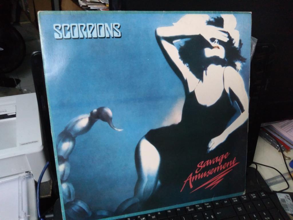 Foto 1 - SCORPIONS, LP Savage Amusement, Mercury-1988