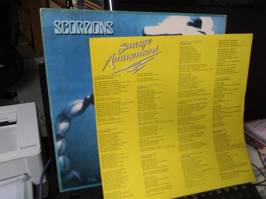 Foto5 - SCORPIONS, LP Savage Amusement, Mercury-1988