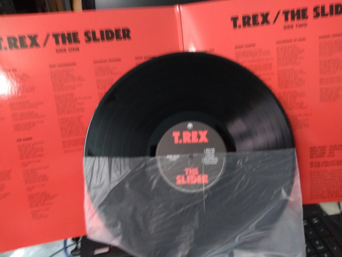Foto4 - T.REX (tyranossaurus rex, marc bolan), LP T.Rex - The Slider, 1971 Fatpossum-2010 importado