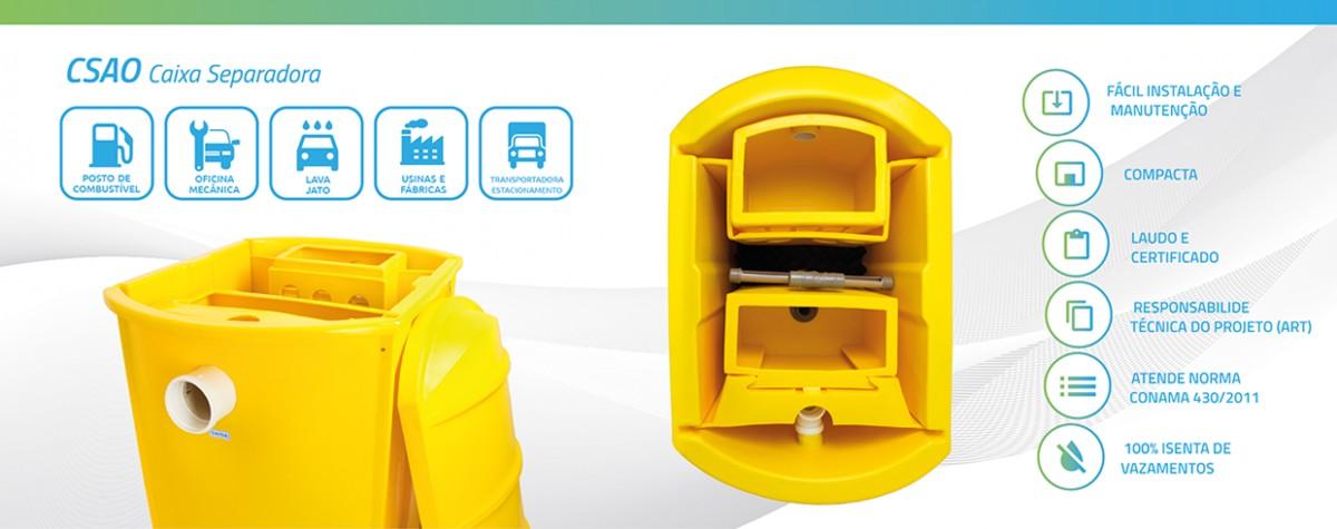Foto2 - Caixa Separadora de Água e Óleo - 3000L/H