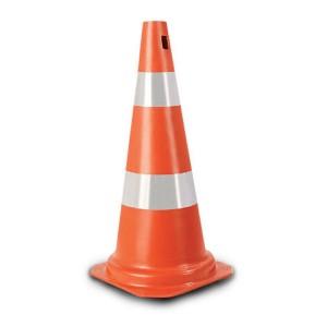 Cone de sinalização em PVC