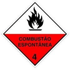 Foto 1 - Placa de Sinalização - Combustão Espontânea
