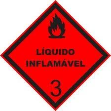 Foto 1 - Placa de Sinalização - Líquido Inflamável