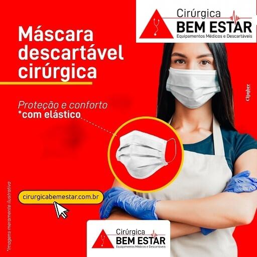 Foto 1 - Máscara Descartável Cirúrgica - Descarpack