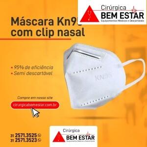 Máscara Descartável KN95 - pacote 5 unidades