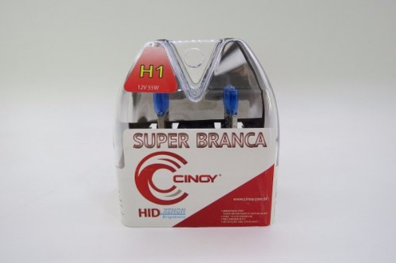 Foto 1 - LAMPADA H1 CINOY SUPER BRANCA(PAR) Ref.: 3431