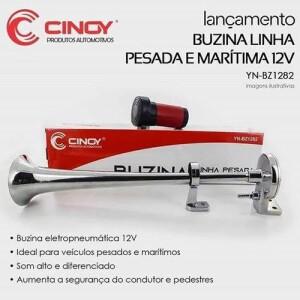 BUZINA PARA CAMINHÃO/ÔNIBUS LINHA PESADA SOM FORTE MARÍTIMA 12V YN-BZ1282