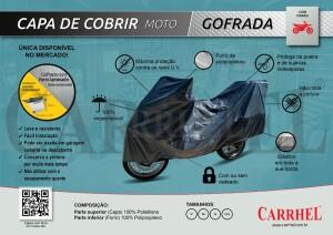 Foto1 - CAPA PARA COBRIR MOTO CARRHEL FORRO GOFRADO