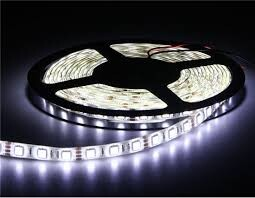 Foto 1 - FITA LED EM ROLO 5M SMD BRANCA C/ADAP. Ref.: 32026