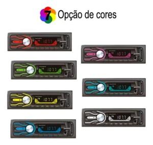 Foto3 - RÁDIO AUTOMOTIVO FIRST OPTION -5566SE- BLUETOOTH- 7CORES PERSONALIZÁVEIS- 2 ENTRADA USB.