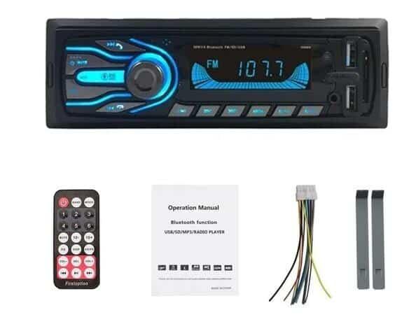 Foto 1 - RÁDIO AUTOMOTIVO FIRST OPTION -5566SE- BLUETOOTH- 7CORES PERSONALIZÁVEIS- 2 ENTRADA USB.