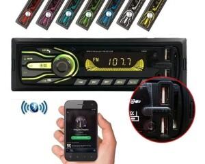 Foto2 - RÁDIO AUTOMOTIVO FIRST OPTION -5566SE- BLUETOOTH- 7CORES PERSONALIZÁVEIS- 2 ENTRADA USB.