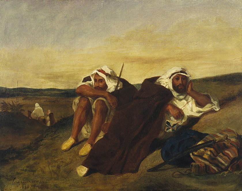 Foto 1 - Árabes de OrãArgélia Oriente 1834Pintura de Eugène Delacroix em TELA