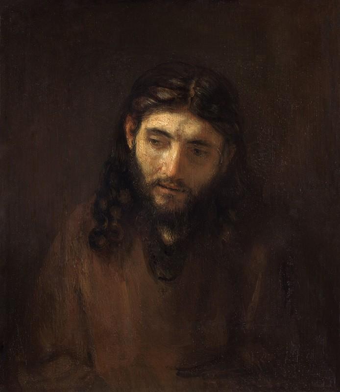 Foto 1 - A Cabeça de Cristo Retrato JesusReligiãoPintura de Rembrandt em TELA