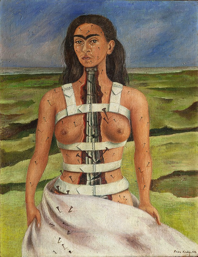 Foto 1 - A Coluna Quebrada Dor e Sofrimento Pintura de Frida Kahlo em TELA